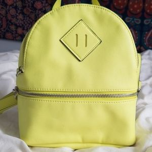 Lime green mini book bag